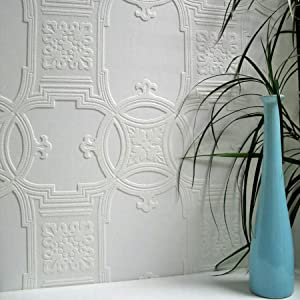 Brewster 437-RD01600 Early Victorian Wallpaper, White