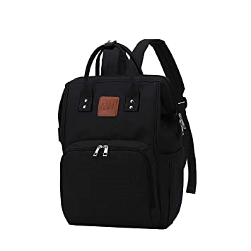 Citi Babies Black Diaper Bag Backpack - Water Resistant, Shoulder Strap, Large Capacity,