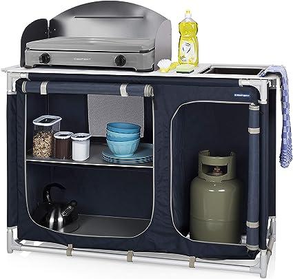 Camping Cuisine Support Aluminium unité de stockage portable Cuisson pare-brise pop up