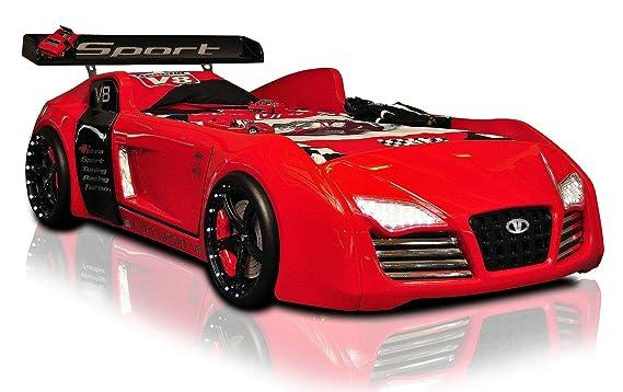 Autobett Racing Star Mit Led Beleuchtung Sound