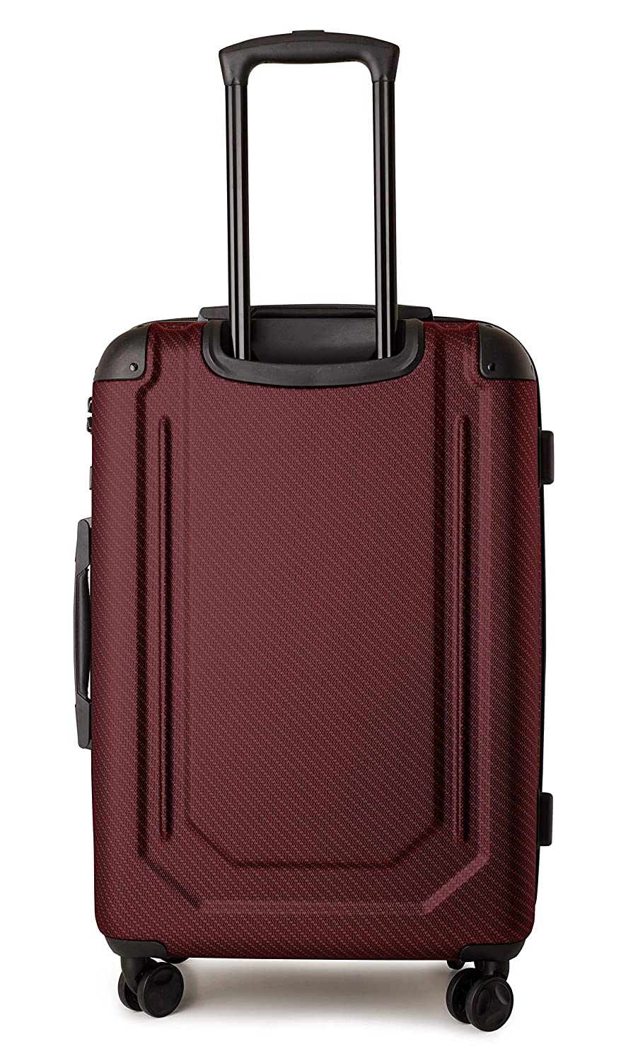 TravelCross Toulon Expandable Lightweight Hardshell Spinner Luggage Red, 25