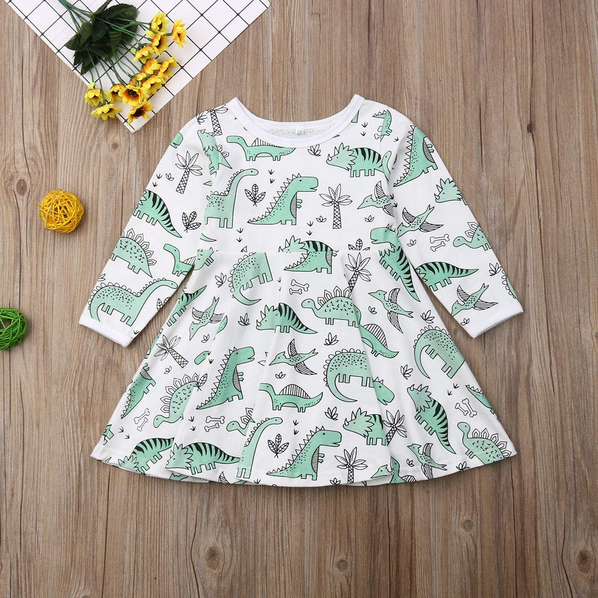 Small/&beautiful 2PC Baby Girl Floral Dress Sleeveless with Button Pleated Dresses Headband Sundress