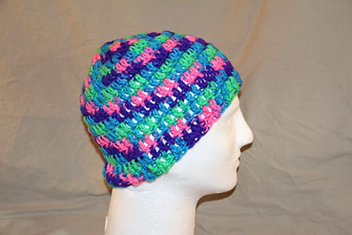 Amazon.com: Hand Crochet head hugger skull cap chemo bad hair day ...