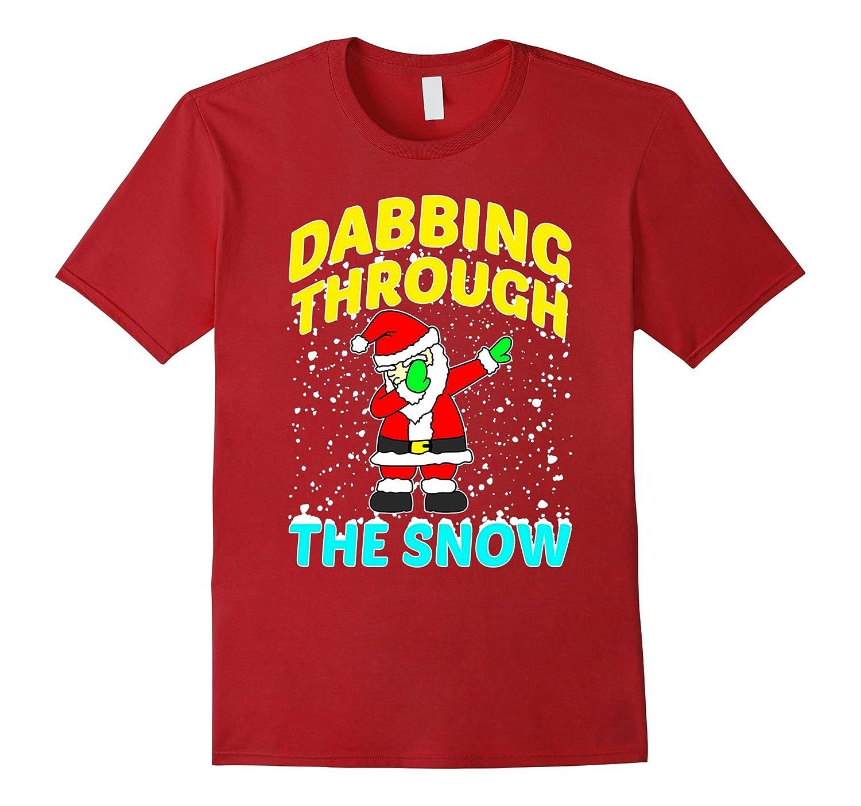 CUTE DABBING THROUGH THE SNOW T-SHIRT Funny Santa Has Swag-RT