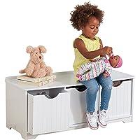 KidKraft Nantucket Banco de Madera con 3 cajones/contenedores/cestas de Almacenamiento, Muebles de Dormitorio para niños…