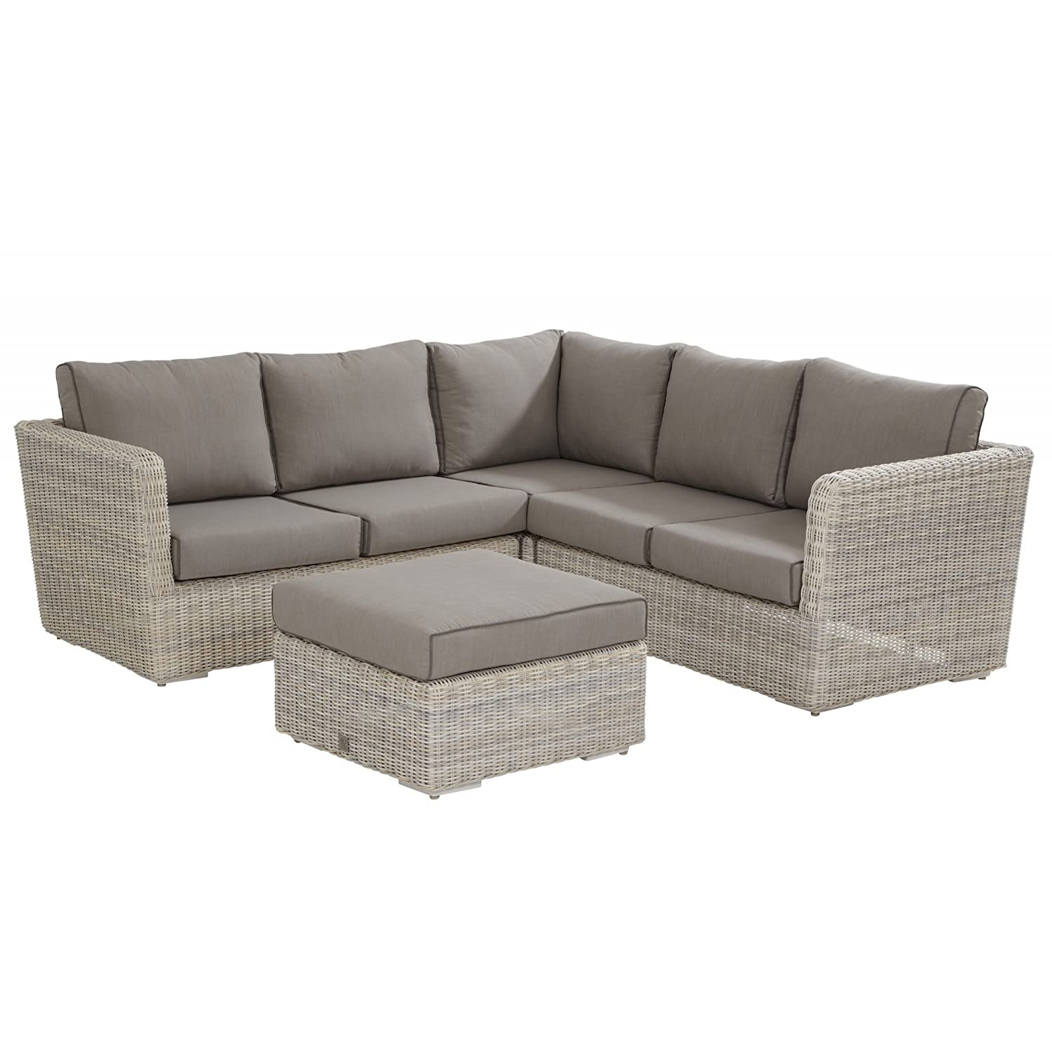 4Seasons Outdoor Elite 4-teilige Eck-Loungegruppe Polyrattan Provance