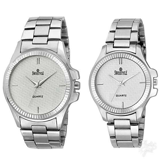 70b31d91ee3 Image Unavailable. Image not available for. Colour  Swisstyle Anolog White  Dial Men s and Women s ...