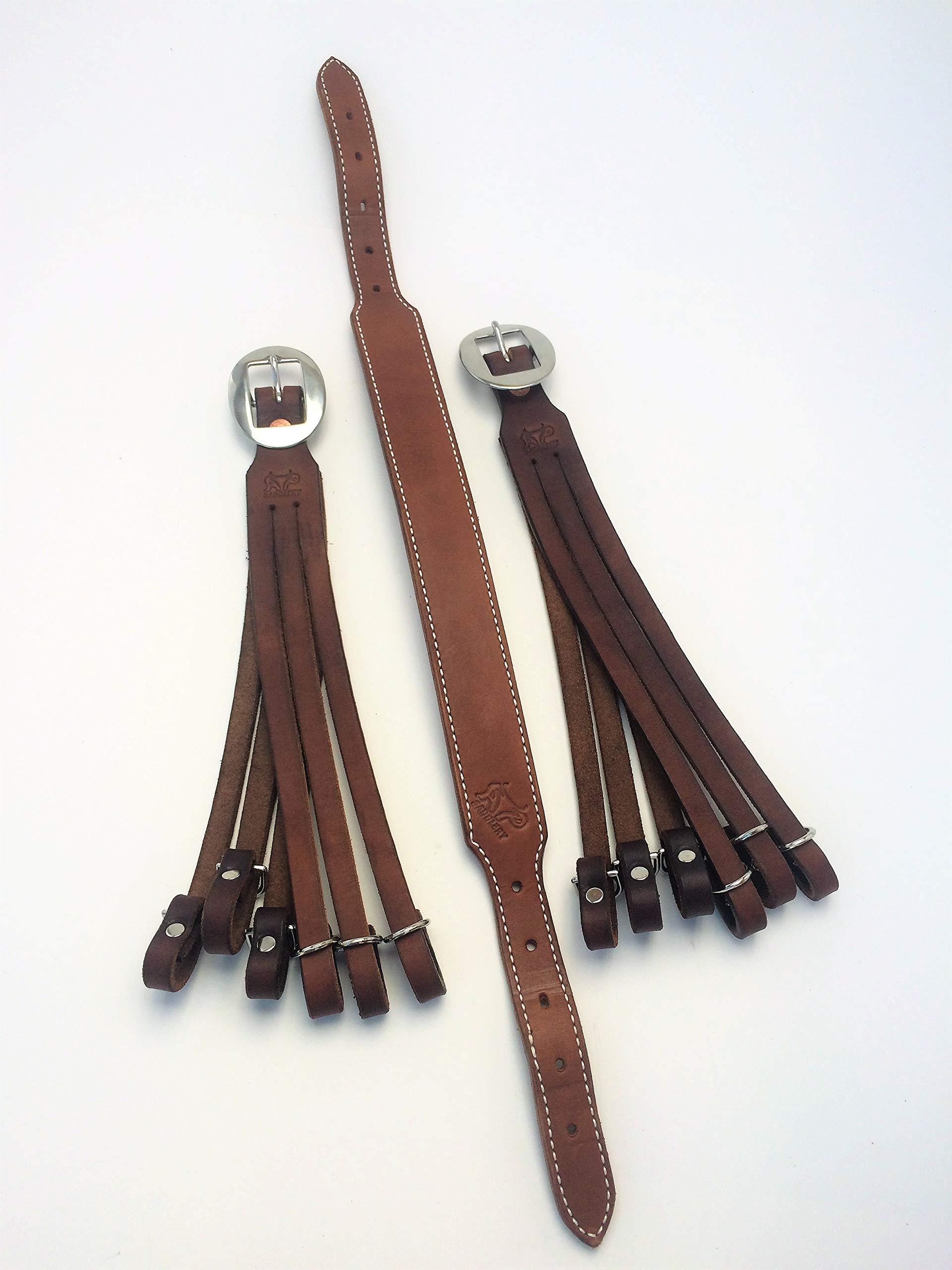 AP Saddlery Adjustable Low Profile Leather Duck Holder (Dark Brown)