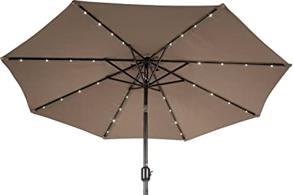 Amazon Com Trademark Innovations 7 Ft Solar Led Patio Umbrella