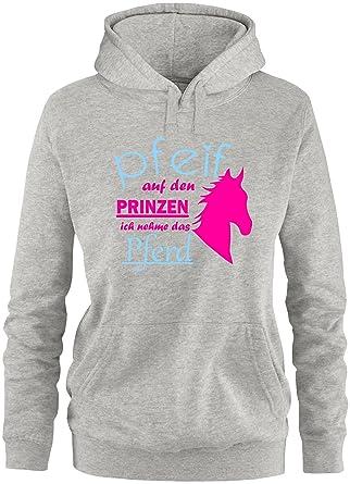 EZYshirt® Pfeif auf den Prinzen ich nehm das Pferd Damen Hoodie