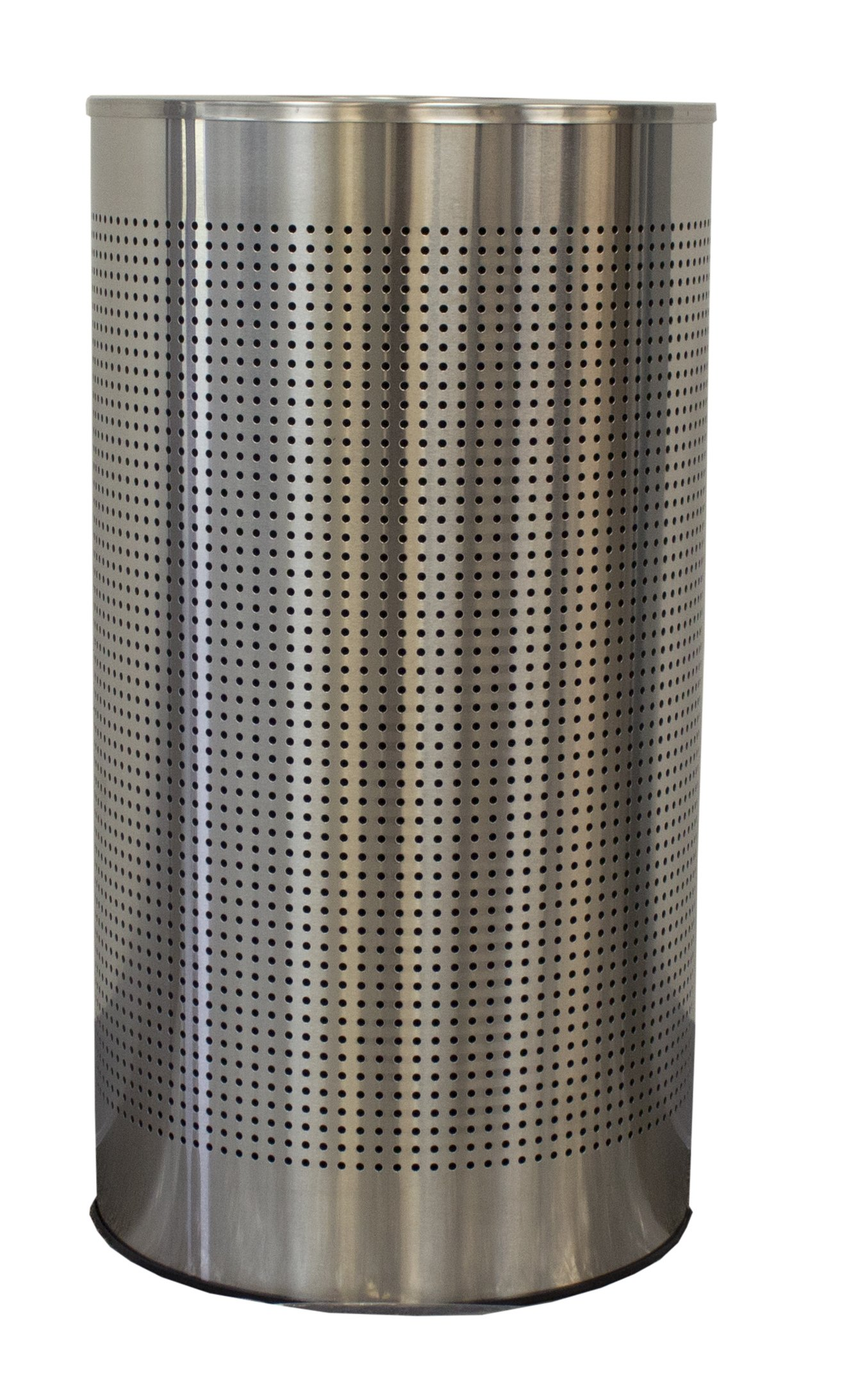 Witt Industries CLHR12-SS Celestial Half Round, 32'' Height, 9'' width, 12 gal Capacity, Brushed Stainless Steel