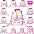 Magigift Unicorn Party Favors Bags Drawstring Gifts Bags for Kids Party Decoration (12pack)