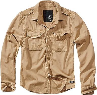 Brandit Vintage Shirt Longsleeve Camisa para Hombre: Amazon.es: Ropa y accesorios