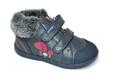 Botines para niña de Garvalín con Pelo - Azul Marino, 22: Amazon.es: Zapatos y complementos