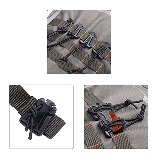 Amazon.com: AXEAX 10 unidades de clip de engranaje táctico ...