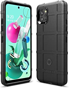 Sucnakp for LG Q92 Case Heavy Duty Shock Absorption Phone Cases Impact Resistant Protective Cover for LG Q92(New Black)