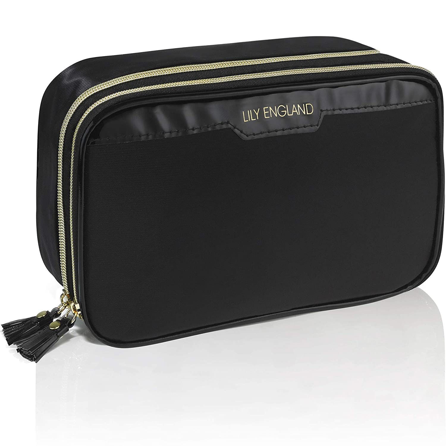 Lily England Makeup Bag Organizer, Make Up Storage Bags, Black Cosmetic Case