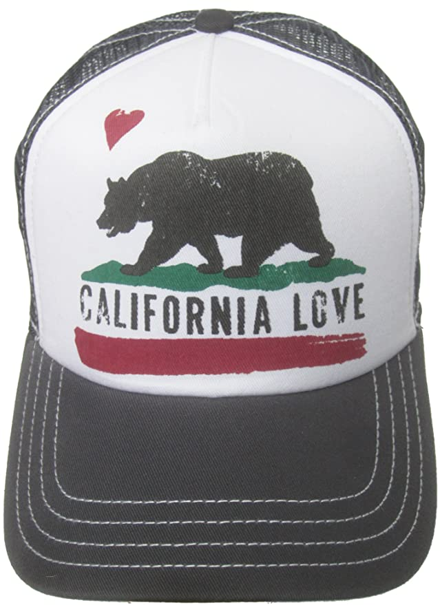 ... great quality 6d8ee e4b56 Brooklyn Hat Co California Love Trucker Cap  Snap Back Grizzly Bear Amazon ... 263d5012a5c