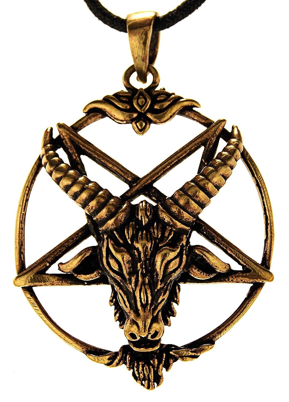 Pentagramm Anhänger aus Bronze mit Baumwollband Eastern Gems ABC-1500