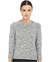 Theory Womens Serino Marled Ribbed Knit Pullover Sweater