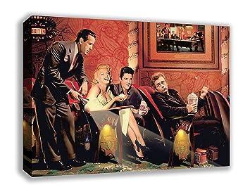 Amazoncom James Dean Elvis Marilyn Monroe Cinema Canvas Wall Art