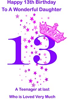 Hallmark 13th birthday daughter kids card medium amazon daughter 13 birthday card bookmarktalkfo Gallery