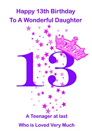 Daughter 13 Birthday Card