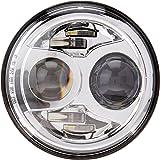 """JW Speaker 8700 Evolution 2 - 7"""" Round LED Headlight - Chrome"""