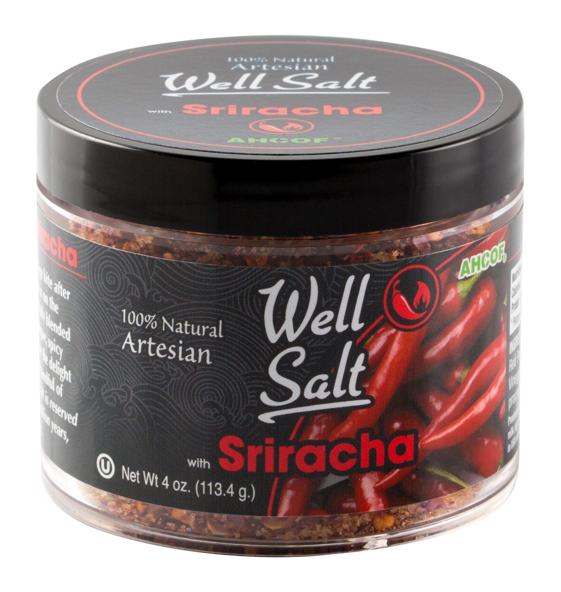 AHCO Foods 100% Natural Artesian Well Salt, Sriracha, 4 Ounce