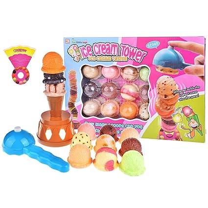 amazon com fun little toys ice cream tower balancing game stacking