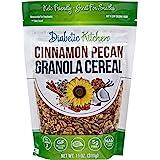 Diabetic Kitchen Cinnamon Pecan Granola Keto Cereal - Keto Friendly, 3 Net Carbs, No Added Sugar, Gluten-Free, 5g Fiber, Non-