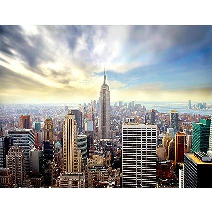 Tapisserie Photo New York 396 X 280 Cm Laine Papier Peint Salon Chambre Bureau Couloir Décoration Peinture Murale Décor Mural Moderne 100 Fabriqué