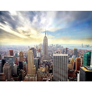 Fototapeten New York 352 x 250 cm Vlies Wand Tapete Wohnzimmer Schlafzimmer  Büro Flur Dekoration Wandbilder XXL Moderne Wanddeko -Stadt City NY Runa ...