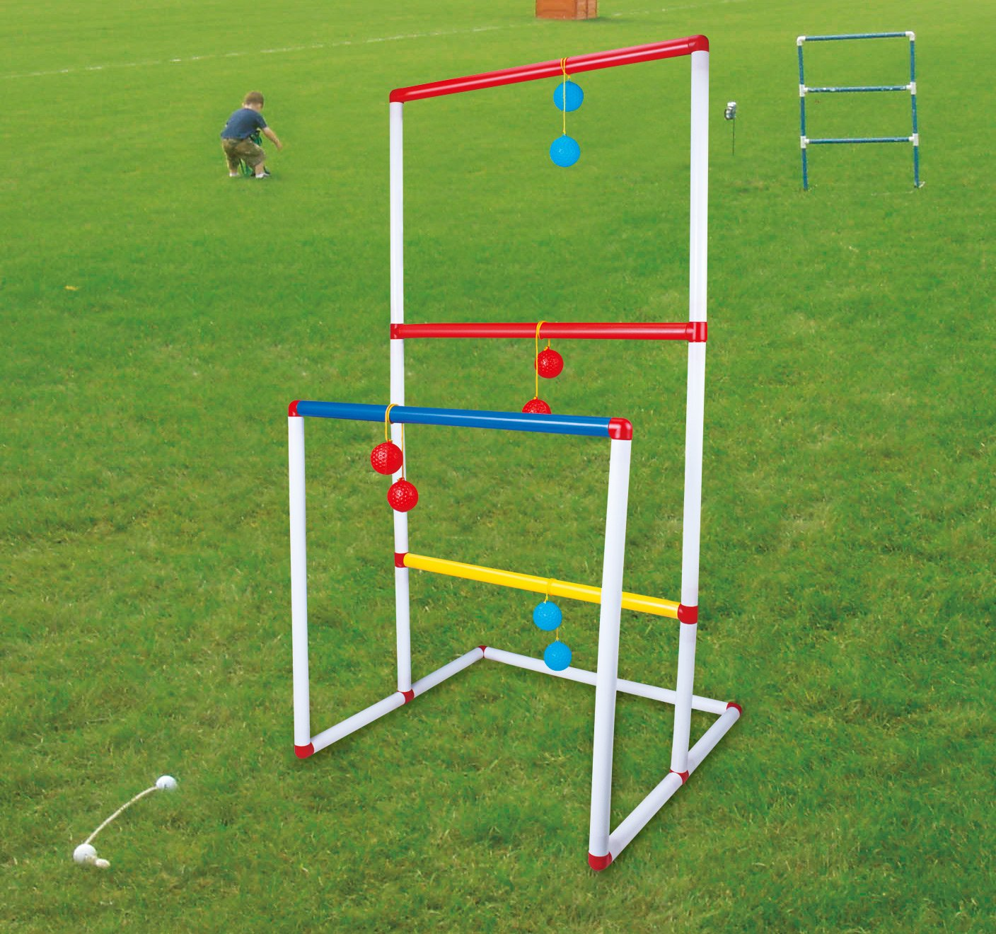 Lightjust Ladder Toss Game Set, Ladderball Game Set with 6 Bolos for Indoor or Outdoor