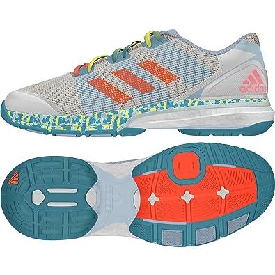 premium selection 6d7e8 a1f47 adidas Damen Stabil Boost II Handballschuhe Mehrfarbig (WhiteVapour Ice  Blue), 40