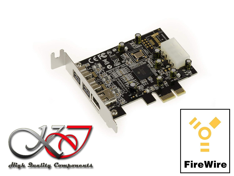 - 2+1 Sorties PCI-E KALEA INFORMATIQUE Carte Contr/ôleur PCIE Low Profile FIREWIRE 800 et 400 IEEE1394A et IEEE1394B sur Port PCI Express 1x Chipset TI XIO2213BZAY