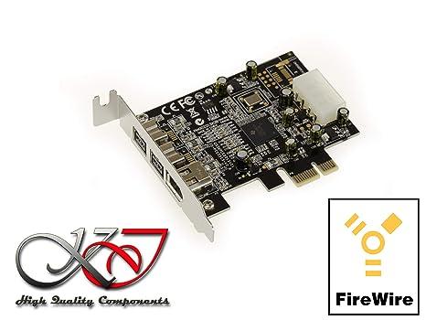 Kalea Informatique – Tarjeta controladora PCIe Low Profile FireWire 800 y 400 (IEEE1394 ay IEEE1394B sobre puerto PCI Express 1 X PCI-E) – 2 + 1 ...