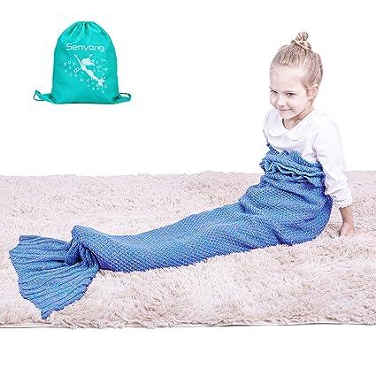 Mermaid Tail Blanket Mermaid Blanket For Girls All Seasons Soft