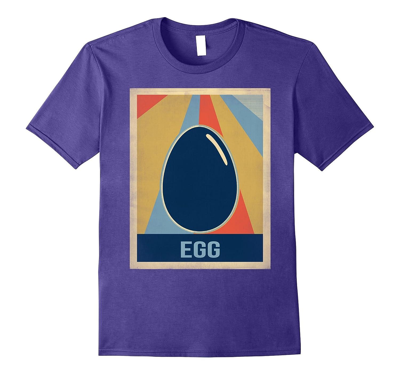 Vintage style eggs tshirt-FL