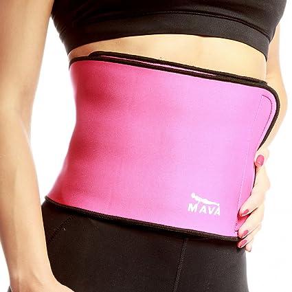 9b58cd448c Mava Sports Waist Trainer Stomach Wrap for Fat Loss – Sauna Compression  Workout Wrap Sweat Enhancer – Fat Burner Trimmer Belt for Slimming   Weight  Loss