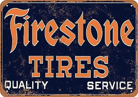 HiSign Neumáticos Firestone Carteles de Chapa de hojalata ...