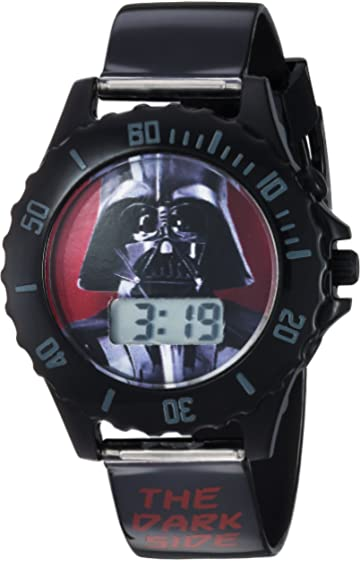 Star Wars Boys Quartz Plastic Casual Watch, Color:Black (Model: DAR3514)