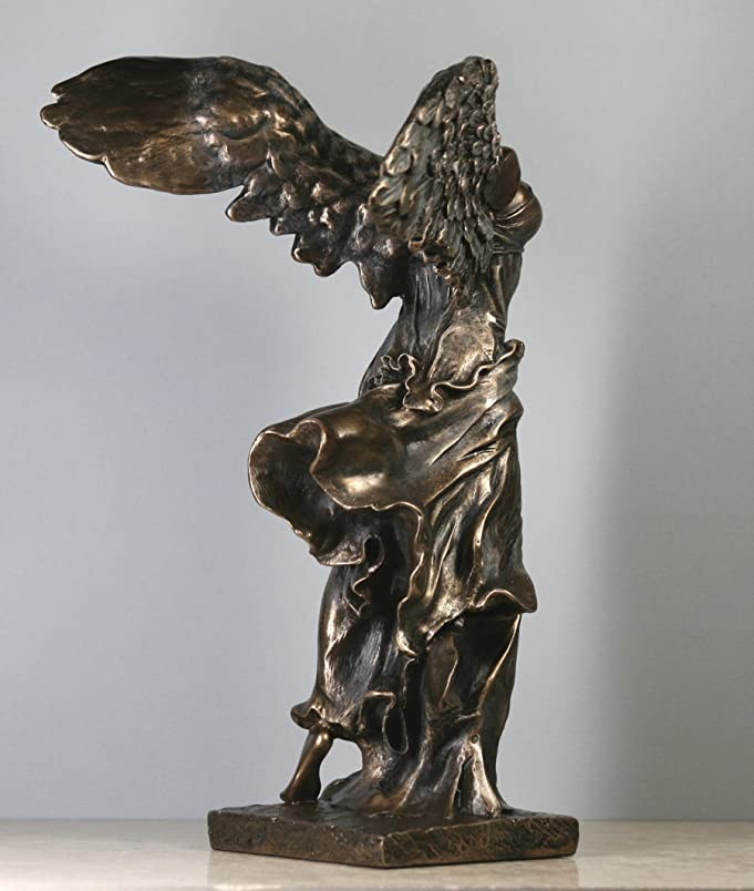 Amazon.com: Nike Victory of Samothrace Greek Goddess Statue Sculpture Figure  Bronze Finish: Home & Kitchen