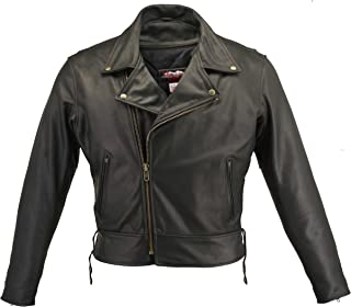 product image for Men's Beltless Biker Jacket (60 Long/Tall)