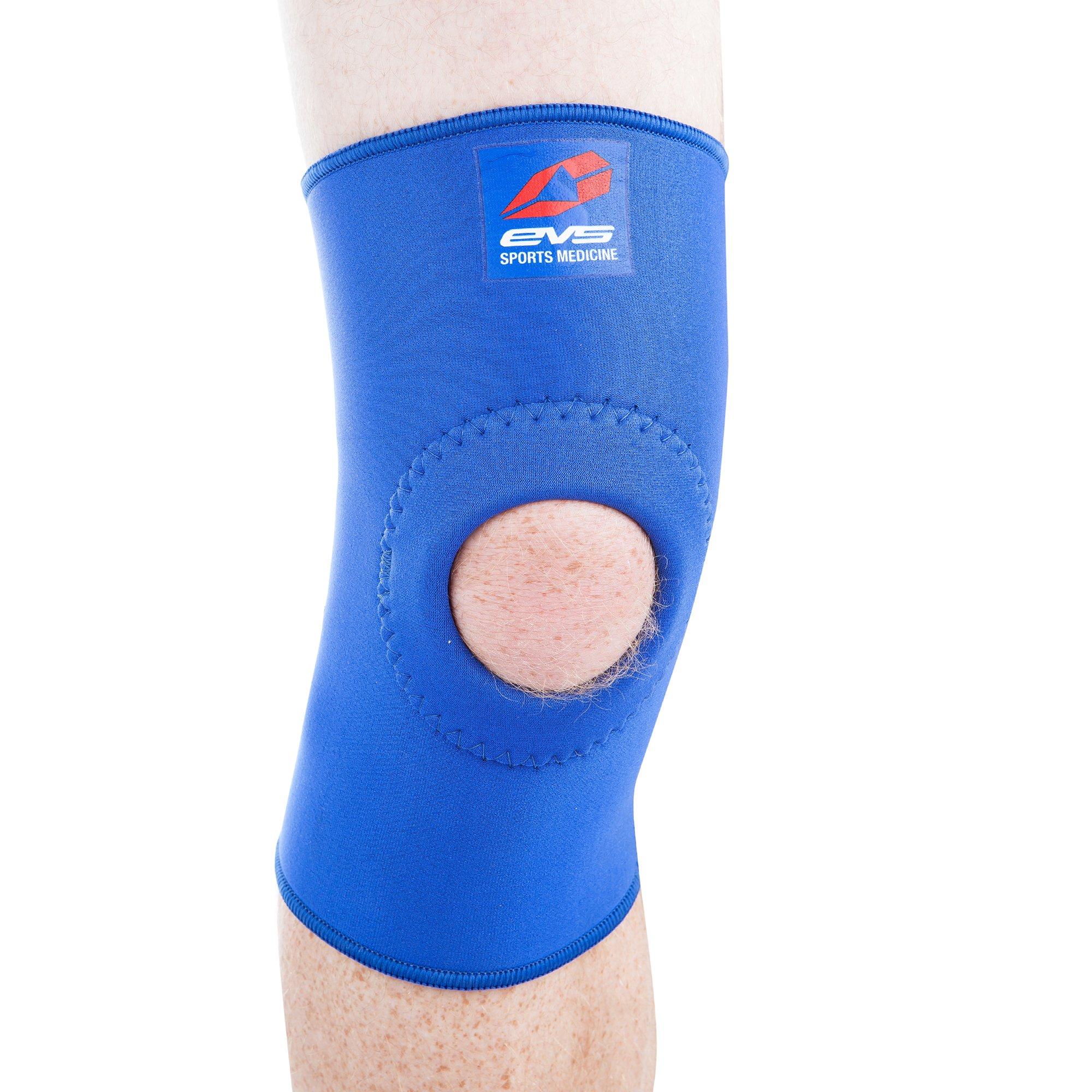EVS Sports Unisex-Adult Neoprene Knee Support (Blue, Medium)