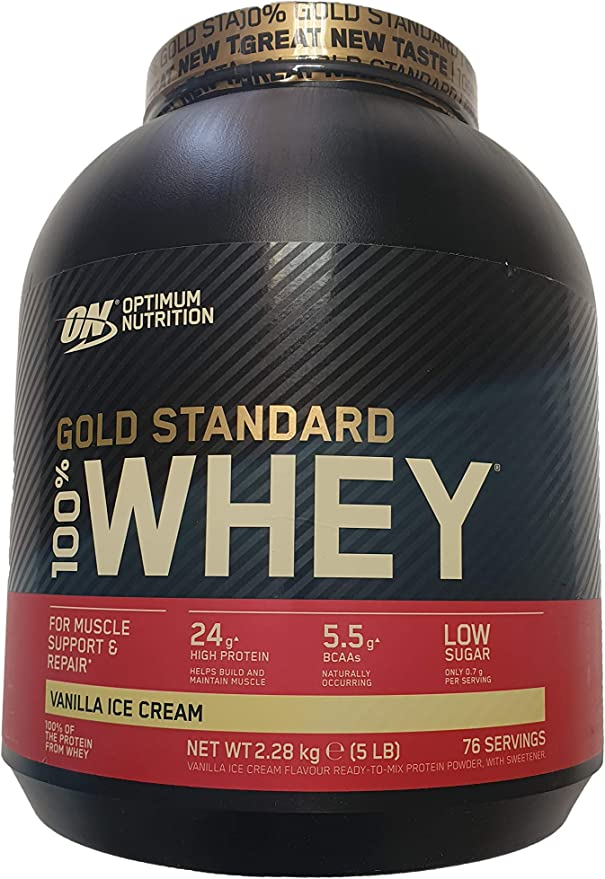 Optimum Nutrition 100% Whey Gold Standard, Sabor Vanilla Ice Cream - 2.27 Kg