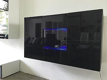 Credenza Moderna Sospesa : Muebles bonitos credenza sospesa moderna design varedo nero