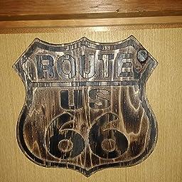 Amazon Co Jp ビンテージ木製看板 ルート66アメリカンウッドサインボード Big ホビー