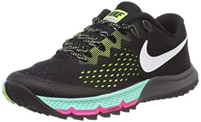 huge selection of 0426d 2a58f Nike Women s W Air Zoom Terra Kiger 4, Black White-Volt-Hyper