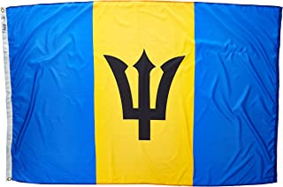 product image for Annin Flagmakers Model 190541 Barbados Flag Nylon SolarGuard NYL-Glo, 4x6 ft, 100% Made in USA to Official United Nations Design Specifications